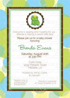 Frog Prince baby shower invite
