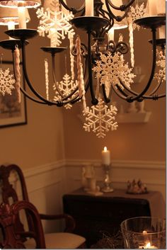 The bungalow blog decorate lighting for Christmas Could hand pin cones for the fall with cute ribbons. Liz