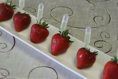 Champagne infused strawberries?? I think yes! >