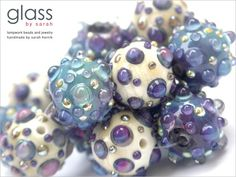 Sarah Hornik Winterberries Handmade Lampwork Glass Bead Set Bumpy Rounds 14 | eBay