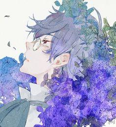 Manga is simply the Japanese version of comic books or graphic novels. Anime Boys, Manga Anime, Manga Art, Anime Art, Aesthetic Anime, Aesthetic Art, Anime Style, Anime Flower, Pixiv Fantasia