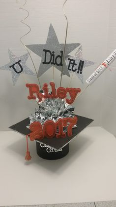 Graduation Centerpiece, Centerpieces, Graduation Ideas, Jewelry, Jewlery, Bijoux, Jewerly, Centerpiece, Table Centerpieces