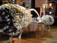 """""""Paper Ostriches"""", pinned by Ton van der Veer"""