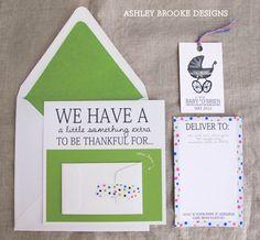 {New Custom Illustration} Baby Announcement Suite - Ashley Brooke Designs