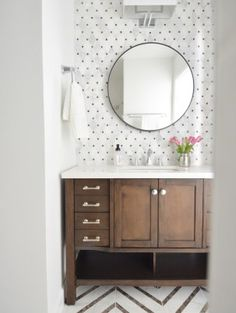 Painted Bathroom Cabinets | Centsational Style