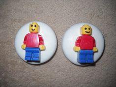 1 chocolate building blocks man molded oreo favors lollipops lollipop | sapphirechocolates - Edibles on ArtFire