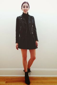 sorelle in style: how to wear: the leather skater skirt | take 1