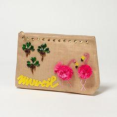 MUVEIL : フラミンゴクラッチバッグ