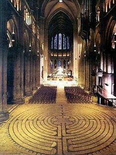 Chartres Cathedral, France - God's peace emanated throughout her halls. I wanted to fall on my knees and crawl thru the Labrynth like early 17th century devotees.  Awesome experience.