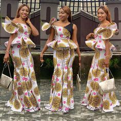 ankara mode Have a ceremony to attend and want to look your best? These beautiful ankara styles for wedding will help you decide what to sew. Latest Ankara Dresses, Ankara Gown Styles, Latest African Fashion Dresses, African Print Dresses, African Dress, African Clothes, African Style, Ankara Fashion, African Lace