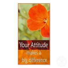 Positive Attitude Motivational Poster print