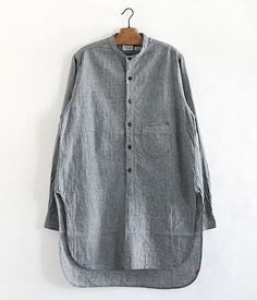 ANACHRONORM Indigo Praid Pullover Long Shirts