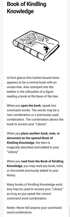 Book of Kindling Knowledge : UnearthedArcana