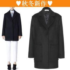 14秋☆日本未入荷サイズ☆サー コート ブラック☆バレンシアガ