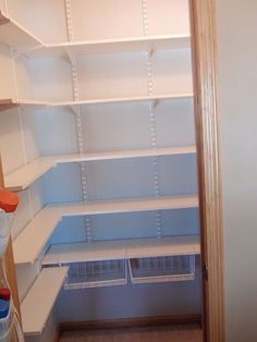 Helpful Hubby transformed a closet into this walk-in pantry in less than 1 day.