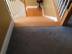Another thing to do that might help minimize a tripping hazard would be to run the laminate the long way in your hallway so the planks will be perpendicular to the top stair. Description from laminate-flooring-installed.com. I searched for this on bing.com/images