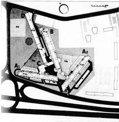 Carlo Aymonino: Quartiere Gallaratese a Milano 1967-1972, vista dall'alto