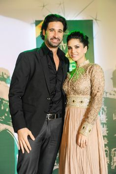 Sunny Leone with her husband Daniel at Times Food Guide 2014 Awards. #Style #Bollywood #Fashion #Beauty