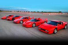 Ferrari top cars ever . Drag race .