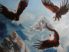 Fellowship of Eagles Eagle painting Prophetic by ArtofAscension, $20.00