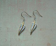 Silber Ohrringe - Ohrringe Federn 925er Sterling Silber - ein Designerstück von MiMaKaefer bei DaWanda
