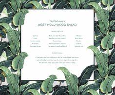 24 Ideas For Banana Tree Wallpaper Beverly Hills Palm Leaf Wallpaper, Tree Wallpaper, Beverly Hills Hotel, Lemon Vinaigrette, Incredible Edibles, Banana, Salad Ingredients, Menu Cards, Tree Designs