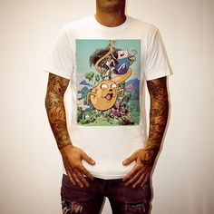 c1337e47d97 Buy Finn And Jake White Tee Shirt online today at Uncle Reco s Online Store.  90s