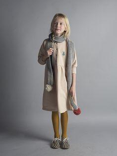 Bobo Choses Fleece Dress Plain Bunny | Scandi Mini