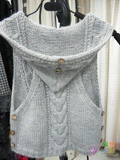 Colete em trico (costas)