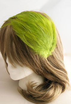 Moss Green feather fascinator headband comb or hair clip - fascinator millinery supply blank base #kentuckyderbyhat #kentuckyderby #derbyhat