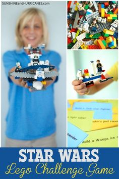 Get ready for family fun when you print and play this FREE Star Wars Lego Challenge Game! You'll design starfighters and create places for all your favorite jedis while engaging in this STEM activity. Great for teachers in a class setting, a birthday party game, or just an afternoon at home! The fun is endless and easy!