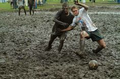 Crazy #sport for crazy #football #lovers.   #SwampSoccer to make you go crazy all over the muddy and marshy field.