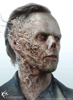 The Art of Ken Barthelmey - Creature Designer / Concept Artist - Entertainment Tree Tattoo Foot, Maze Runner Death Cure, Monster Tattoo, Concept Art World, Zombie Art, World Of Darkness, Monster Design, Horror Art, Best Artist