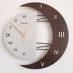 12.5H Roman Numbers Style Mute Wall Clock (Random Color) - USD $ 29.99