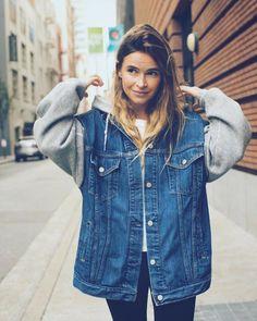 Mira Duma street style hoodie look Oct 2017