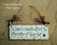Shabby Chic Wooden Plaque Pitter Patter of Doggy by byfairydust, $8.95