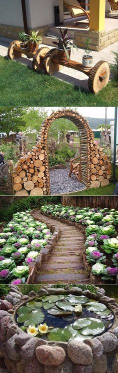Ideas for giving, at home- Идеи для дачи,дома Masterpieces for the garden of simple things - Backyard Projects, Outdoor Projects, Garden Projects, Outdoor Decor, Garden Trellis, Garden Gates, Garden Art, Bamboo Garden, Garden Design Plans