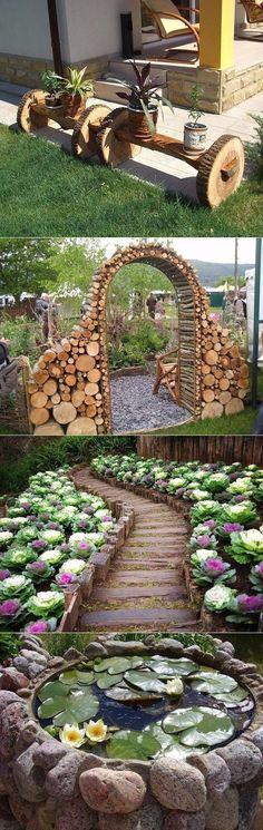 Шедевры для сада из простых вещей