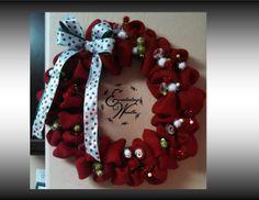 Burlap Christmas Wreath by EverlastingWreaths1 on Etsy, $90.00