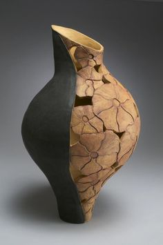 brown - vase - ceramic - Linda Kliewer