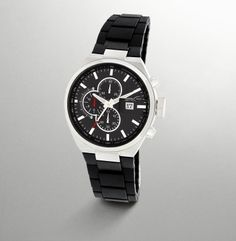 Watch With Rubber Link Strap - Kenneth Cole