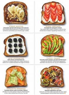 Breakfast in need of a revamp? Here are 5 healthy toast topping ideas that are high protein and will have you looking forward to your vegetarian breakfast! They're full of flavor, perfect for the family, and easy to make. Healthy Meal Prep, Healthy Breakfast Recipes, Healthy Snacks, Healthy Recipes, Healthy Eating, Healthy Breakfasts, Healthy Drinks, How To Eat Healthy, Healthy Packed Lunches