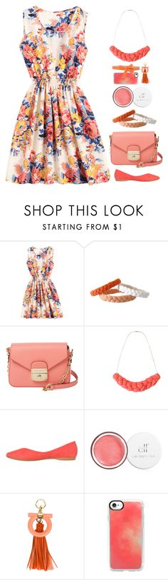 """Floral Print Dresses"" by gicreazioni ❤ liked on Polyvore featuring Longchamp, Salvatore Ferragamo, Casetify and Viktor & Rolf"