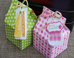 Summer fun Milk Carton Treat Boxes: icons stickers, this & that stickers, doodles tags stickers, fruit stand paper, orange blossoms paper) doodle twine (bumblebee, limeade, tangerine, lady bug)