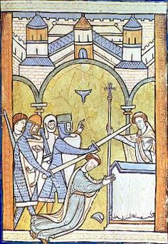 Edward Grim, Life of St Thomas, Archbishop of Canterbury, § 75:  'What miserable drones and traitors have I nurtured and promoted in my household who let their lord be treated with such shameful contempt by a low-born clerk!'  These were the word spoken by Henry II that condemned his once best friend to death.