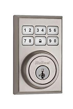 Kwikset-99090-020-SmartCode-Electronic-Deadbolt-featuring-Smart-Key-Satin-Nickel