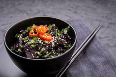 Black rice and wild mushrooms are the star of this one pot cooked on a base of onion, garlic & ginger, mixed with miso paste, mirin and vegetable stock then garnished with chilli, sesame seeds and coriander. It's a dark, rich and mysterious vegetarian and vegan one pot!