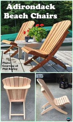DIY Adirondack Beach Chair Free Plan and Instructions #DiyWoodProjectsEasyHolidays