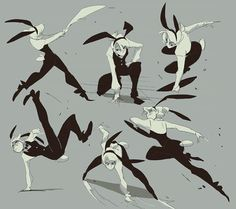 dynamic female fighter pose - Google Search