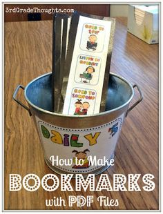 Tech Tutorial: How to Make Bookmarks Using PDF Files - brilliant!